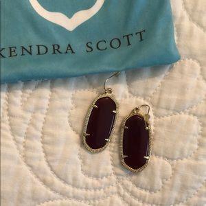Maroon Kendra Scott Elle earrings